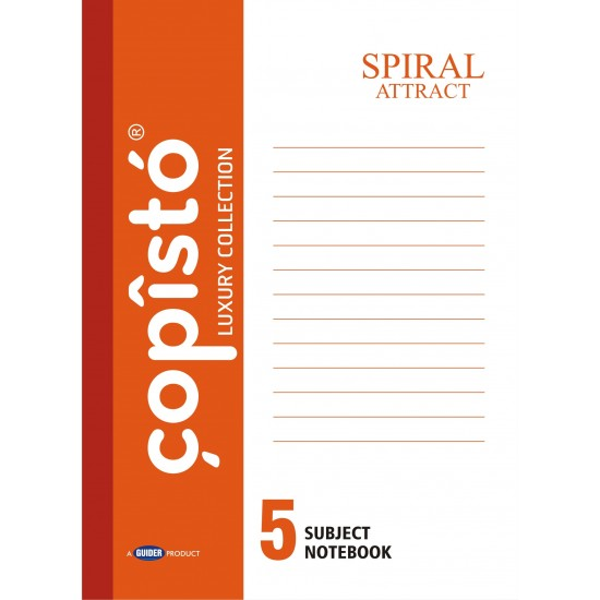 Copisto A4 Spiral 29.7x21cm Unruled 304 Pages