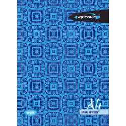 Writonic A4 Spiral 29.7x21cm Unruled 124 Pages