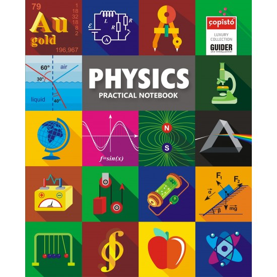 Copisto Hard Bound Practical Notebook 21x27cm Physics 144 Pages